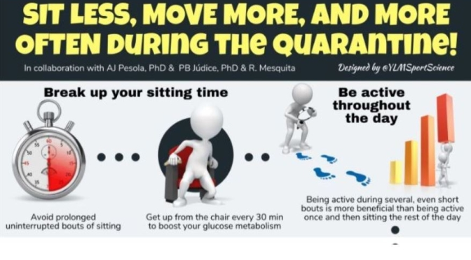 "EXERCISE INFOGRAPHIC – – ""SIT LESS AND MOVE MORE DURING THE QUARANTINE"""