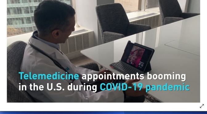 TELEMEDICINE: VIRTUAL APPOINTMENTS CONTINUE TO INCREASE IN U.S. (VIDEO)
