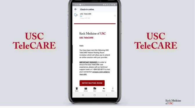"Telemedicine: USC Keck Medicine ""TeleCARE"" App For Smartphones (Video)"