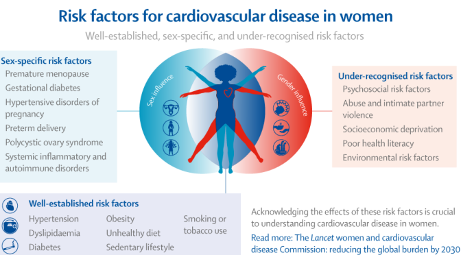 Health: Risk Factors For Cardiovascular Disease In Women (Infographic)