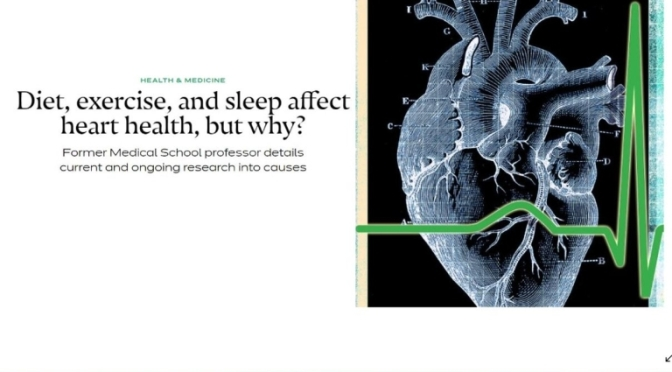 ATHEROSCLEROSIS: STRESS, LACK OF SLEEP & EXERCISE AND POOR DIET RAISE RISKS